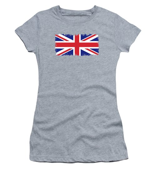 Women's T-Shirt (Junior Cut) featuring the digital art Union Jack Ensign Flag 1x2 Scale by Bruce Stanfield