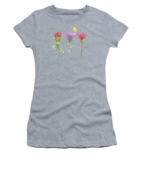Scottish Thistle Tattoo With Bumble Bee Fl104 Women's T-Shirt