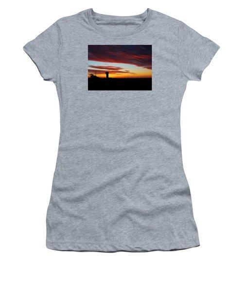 Sunrise Over Golden Spike Tower Women's T-Shirt (Junior Cut) by Bill Kesler