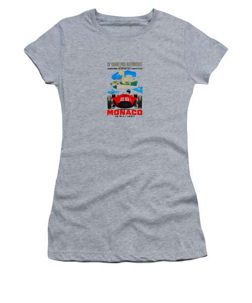 Monaco 1957 Women's T-Shirt (Junior Cut) by Mark Rogan