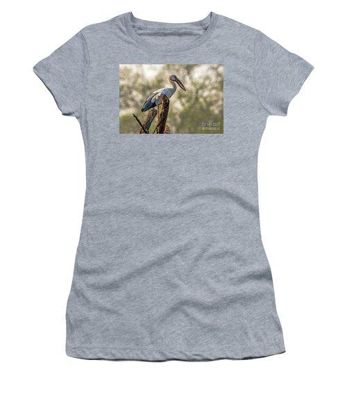 Asian Openbill Women's T-Shirt (Junior Cut) by Pravine Chester