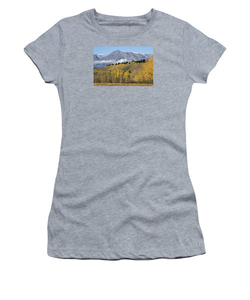 Women's T-Shirt (Junior Cut) featuring the photograph Aspen Colours by Shirley Mitchell