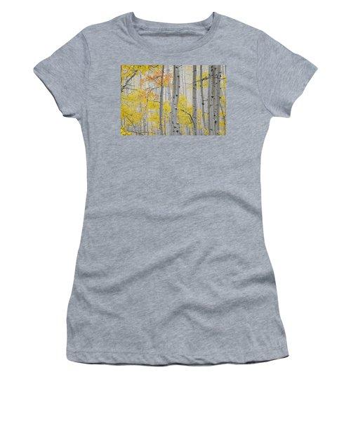 Aspen Forest Texture Women's T-Shirt (Athletic Fit)
