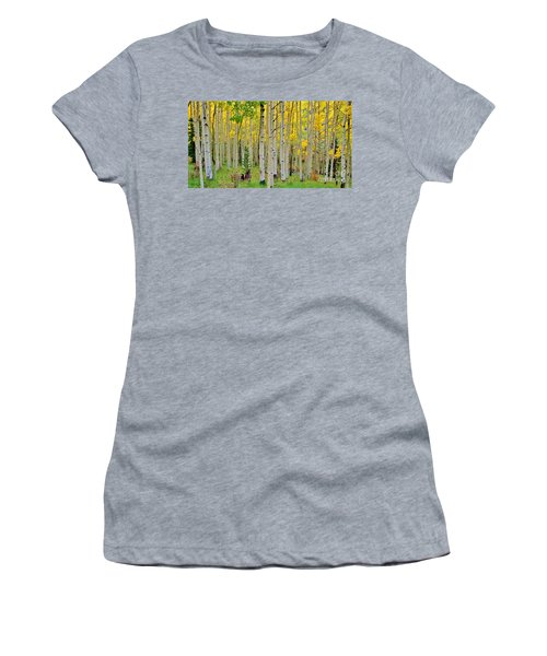 Aspen Slope Women's T-Shirt (Junior Cut) by Ellen Heaverlo