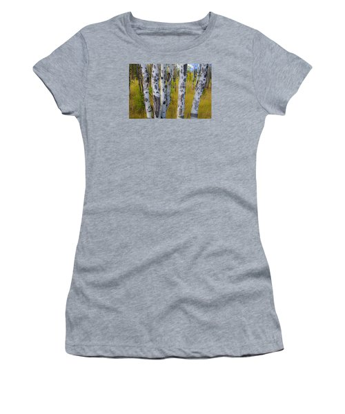 Women's T-Shirt (Junior Cut) featuring the photograph Aspens by Gary Lengyel