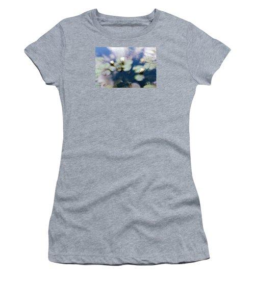 Women's T-Shirt (Junior Cut) featuring the photograph At Claude Monet's Water Garden 4 by Dubi Roman