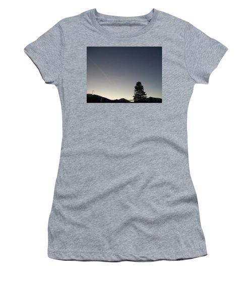 Women's T-Shirt (Junior Cut) featuring the photograph At Dusk by Jewel Hengen