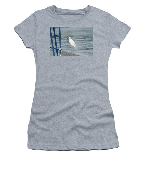 Women's T-Shirt (Athletic Fit) featuring the photograph At The Edge by Kim Hojnacki
