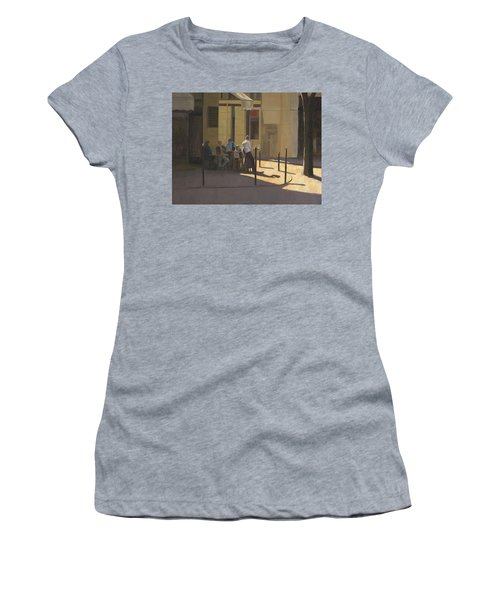 At The Street Cafe Women's T-Shirt (Athletic Fit)