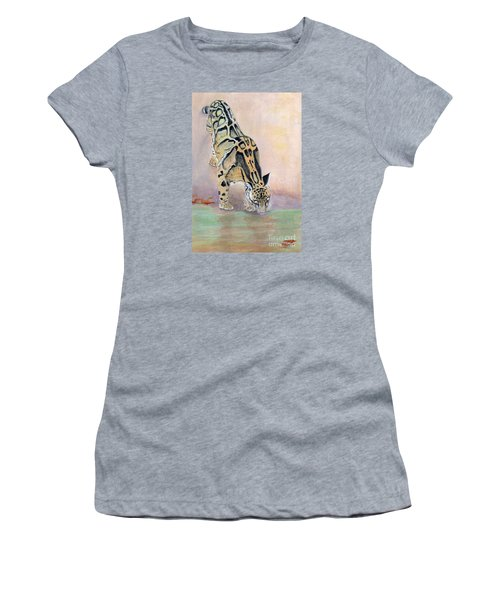 At The Waterhole - Painting Women's T-Shirt (Athletic Fit)