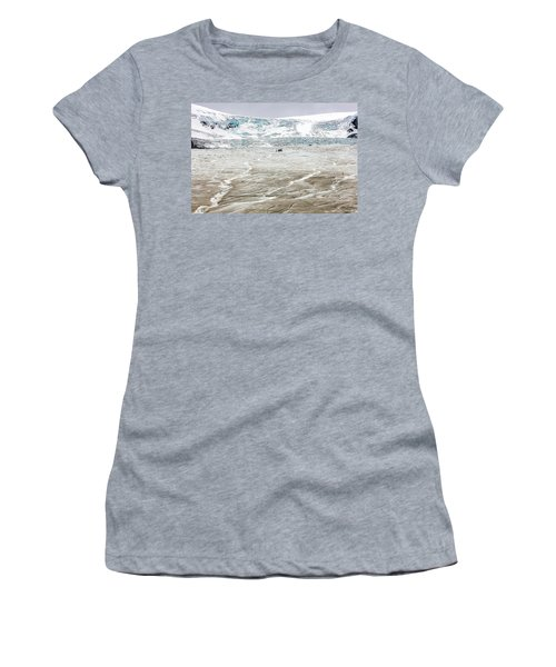 Athabasca Glacier With Guided Expedition Women's T-Shirt (Junior Cut) by Pierre Leclerc Photography