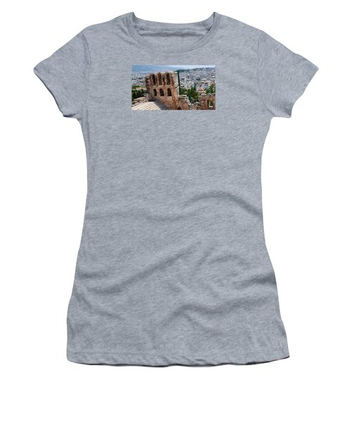 Women's T-Shirt (Junior Cut) featuring the photograph Athens From Acropolis II by Robert Moss