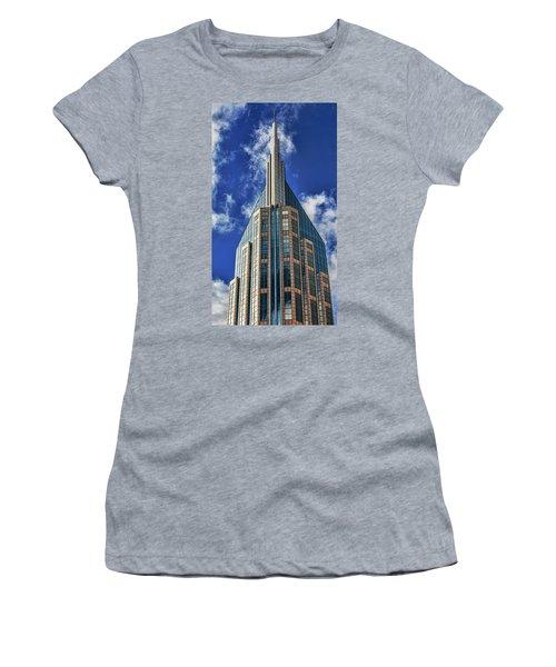 Women's T-Shirt (Junior Cut) featuring the photograph Att Nashville by Stephen Stookey