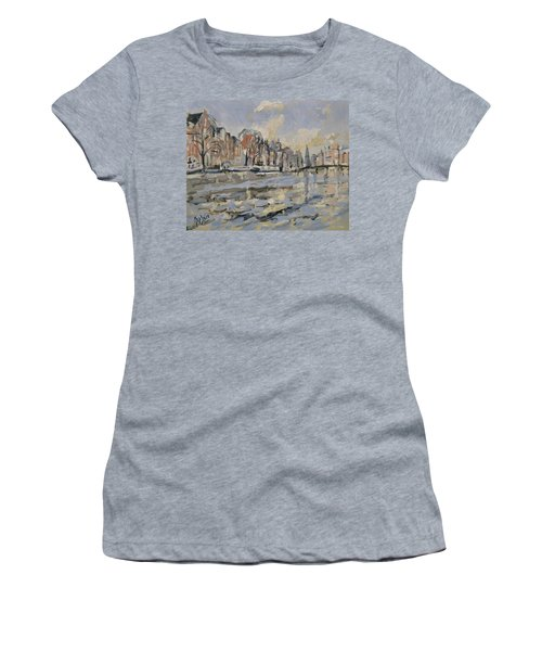 Autumn Along The Amstel In Amsterdam Women's T-Shirt (Athletic Fit)