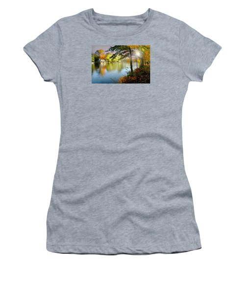 Autumn At Tilley Pond Women's T-Shirt (Junior Cut) by Diana Angstadt