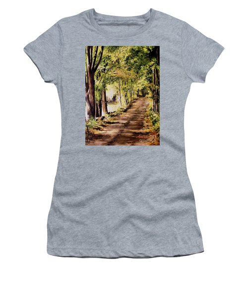 Autumn Begins In Underhill Women's T-Shirt (Junior Cut) by Laurie Rohner
