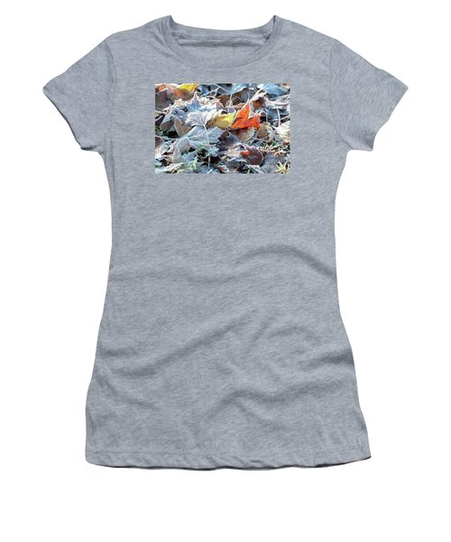 Women's T-Shirt (Athletic Fit) featuring the photograph Autumn Ends, Winter Begins 3 by Linda Lees