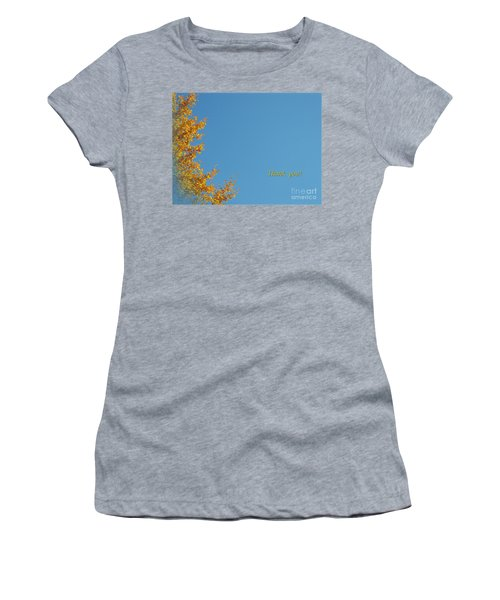Autumn Ginkgo Tree Women's T-Shirt (Athletic Fit)