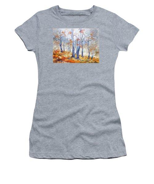 Autumn Mist - Morning Women's T-Shirt (Junior Cut) by Irek Szelag