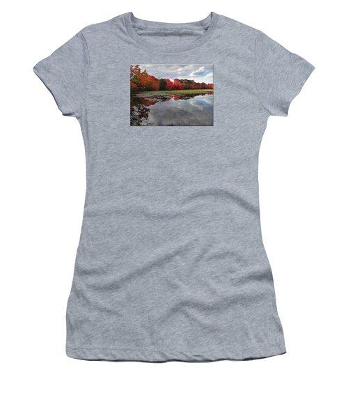 Autumn Reflections Women's T-Shirt (Junior Cut) by Mikki Cucuzzo