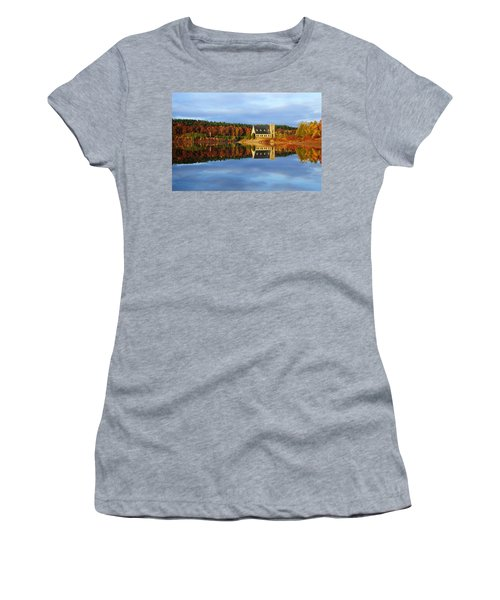 Autumn Sunrise At Wachusett Reservoir Women's T-Shirt (Athletic Fit)