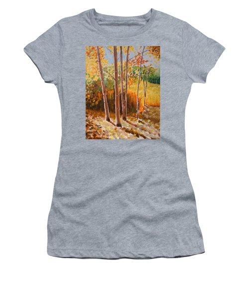 Autumn Trees Women's T-Shirt (Athletic Fit)