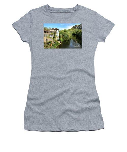 Aveyron River In Saint-antonin-noble-val Women's T-Shirt (Junior Cut) by RicardMN Photography