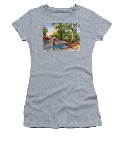 Backwoods Pedaling Women's T-Shirt (Athletic Fit)