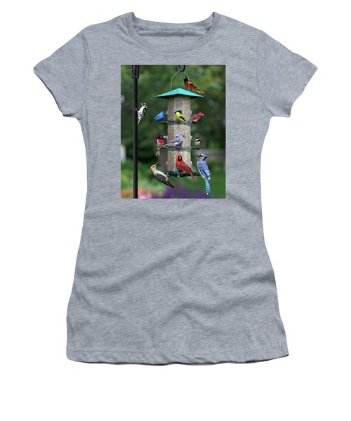 Backyard Bird Feeder Women's T-Shirt (Athletic Fit)