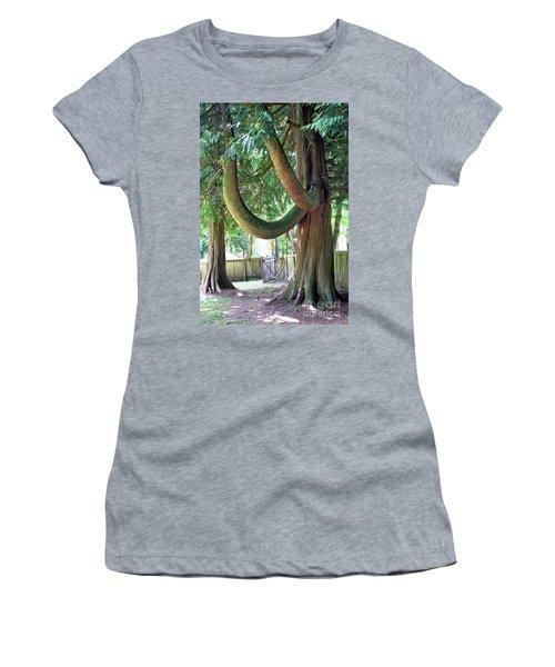 Backyard Cedar Women's T-Shirt (Athletic Fit)
