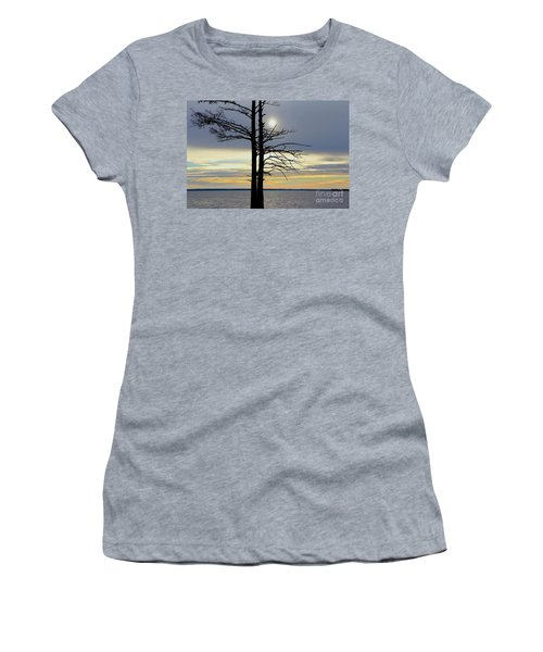 Bald Cypress Silhouette Women's T-Shirt (Athletic Fit)