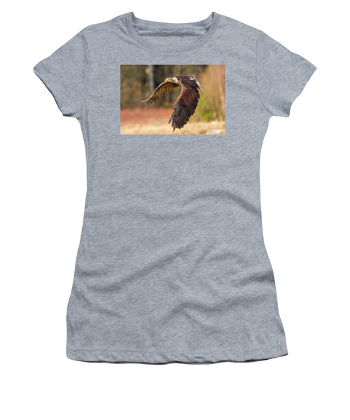 Bald Eagle In Flight Women's T-Shirt (Athletic Fit)