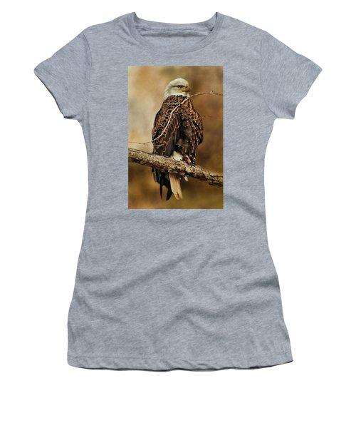 Bald Eagle Perch Women's T-Shirt (Athletic Fit)