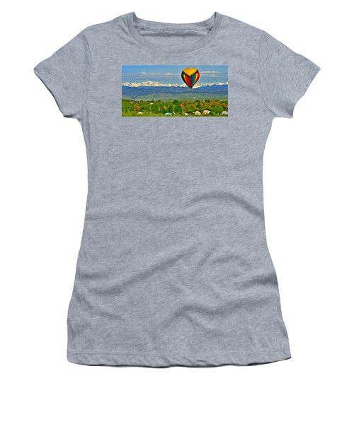 Ballooning Over The Rockies Women's T-Shirt (Athletic Fit)