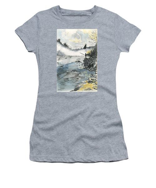 Bank Fishing Women's T-Shirt (Athletic Fit)