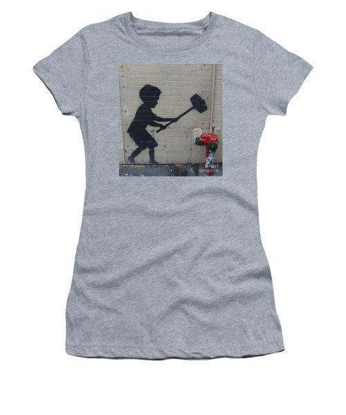 Banksy In New York Women's T-Shirt