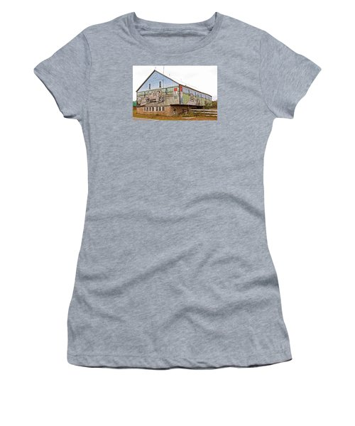 Women's T-Shirt (Junior Cut) featuring the photograph Barn In Bedford by Trina  Ansel