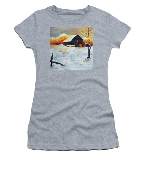 Barn In Winter Women's T-Shirt