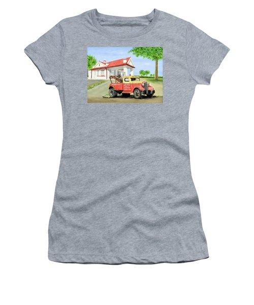 Barnett Garage Women's T-Shirt (Junior Cut)