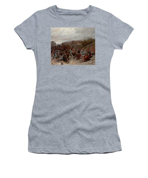 Battle Scene From The Franco-prussian War Women's T-Shirt
