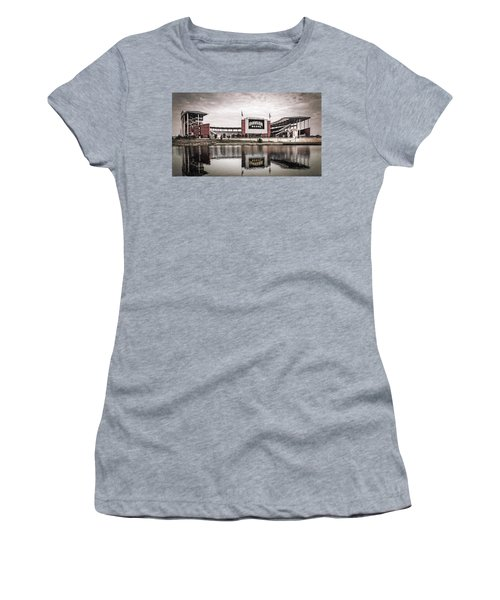 Football Stadium Sketch Women's T-Shirt (Athletic Fit)