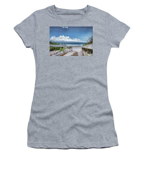 Beach Access Women's T-Shirt (Junior Cut) by Phil Mancuso