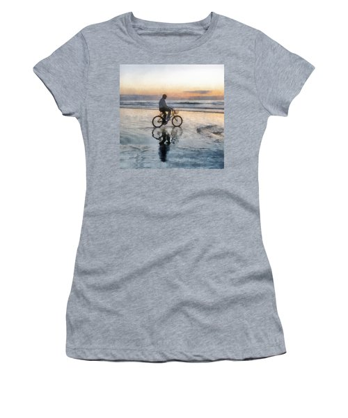 Beach Biker Women's T-Shirt (Junior Cut) by Francesa Miller