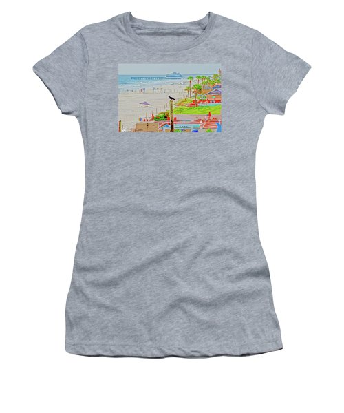 Beach Bird On A Pole Women's T-Shirt