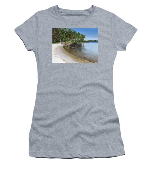 Beach In Muskoka Women's T-Shirt