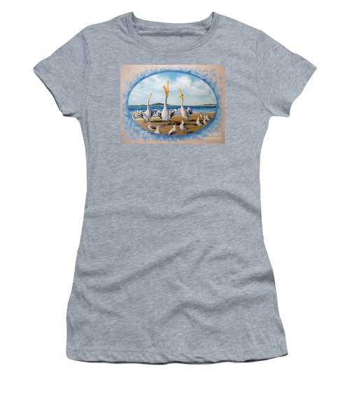 Women's T-Shirt (Junior Cut) featuring the painting Beach Platoon by Sigrid Tune
