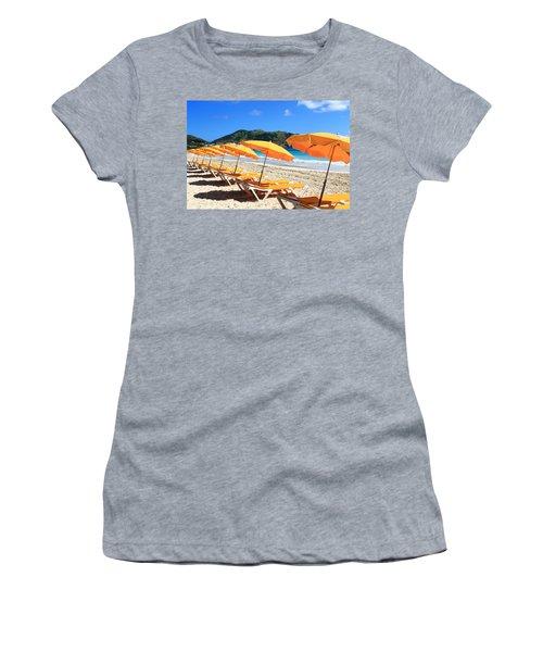 Beach Umbrellas Women's T-Shirt (Athletic Fit)
