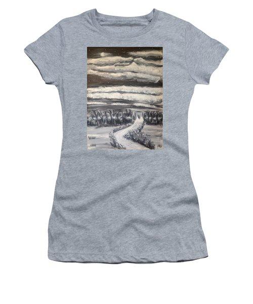 Beach Walk Women's T-Shirt (Athletic Fit)
