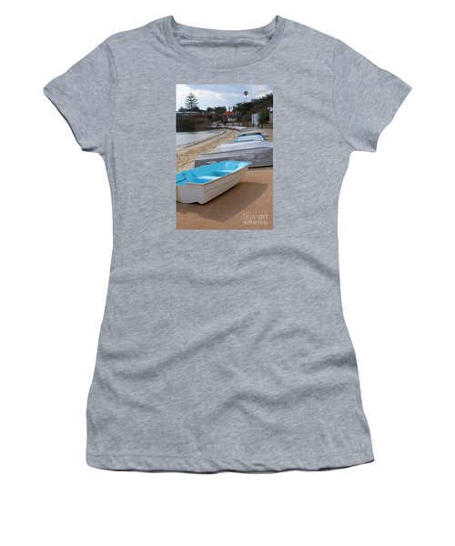 Beached Boats Women's T-Shirt (Junior Cut) by Bev Conover