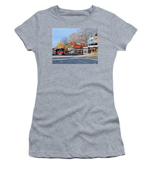 Beacher Cafe Women's T-Shirt (Junior Cut) by Kenneth M  Kirsch